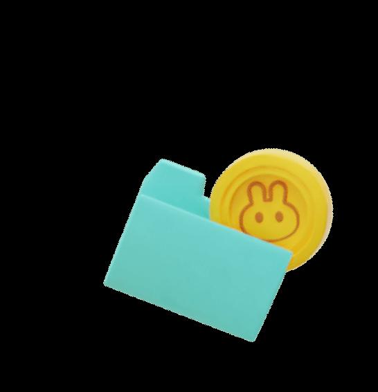 Folder with cake token